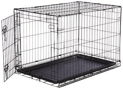 The Basics Folding Metal Single Door Dog Crate May Have Basic In It S Name But Very Likely All You Ll Need And Then Some