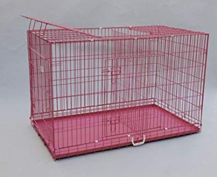 Best Pet Triple-Door Suitcase-Style Folding Dog Crate