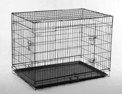 GreatDeals 20 Pet Kennel Cat Dog Folding Steel Crate Animal Playpen Wire Metal Cage Black