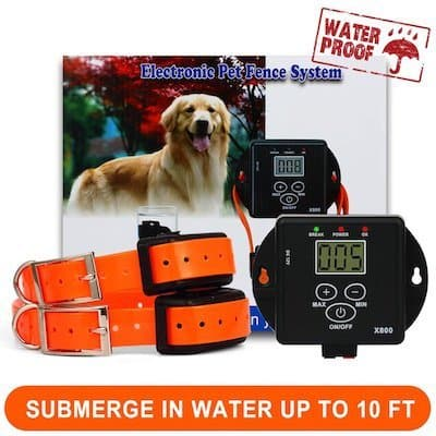 FunAce Rechargeable, Waterproof, and Invisible Wired Dog Fence