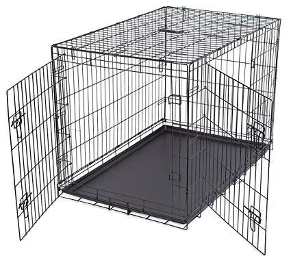 Internet's Best Wire Dog Kennel Double-Door Metal Steel Crate