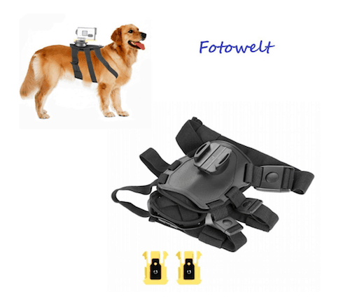 FOTOWELT Dog Harness with Mount for Sony HD Action Cam