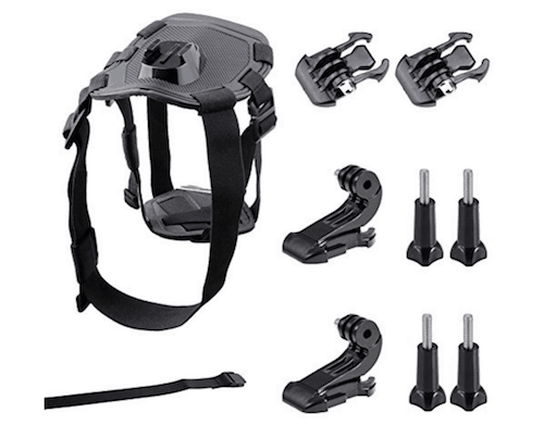 GBB Adjustable Dog Harness with Chest Mount for GoPro Hero