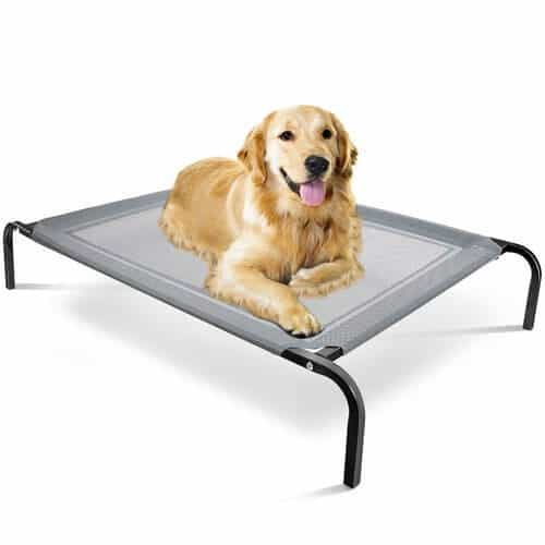 "OxGord ""Travel Gear Approved"" Steel-Framed Portable Elevated Pet Bed"
