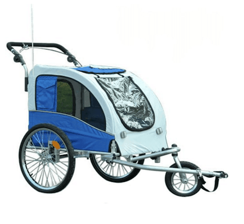 Aosom Elite II Dog Bike Trailer Stroller and Jogger with Suspension