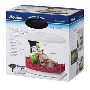 Aqueon BettaBow LED Desktop Fish Aquarium Kit
