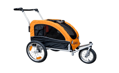 Booyah Medium Dog Stroller and Pet Bike Trailer with Suspension