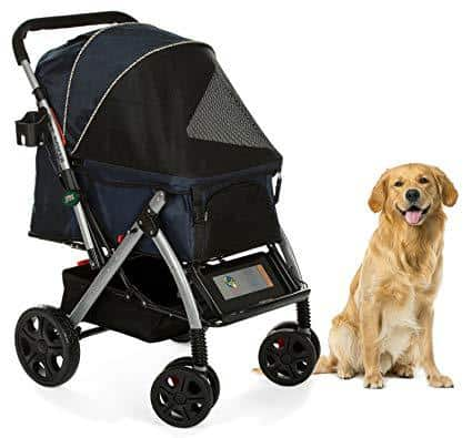 HPZ Pet Rover Premium Heavy Duty Pet Stroller Travel Carriage