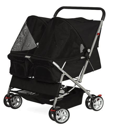 OxGord Pet Double Stroller with Four Wheels