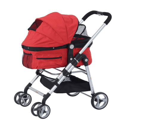 PawHut FourWheel Pet Stroller