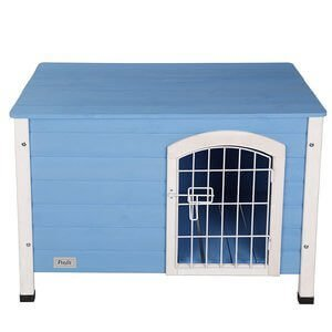 Petsfit Indoor Dog House Wooden With Door For Small Dog