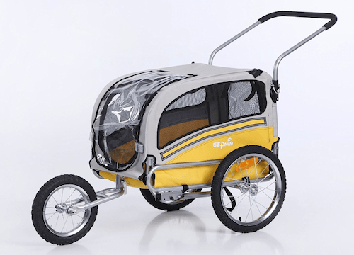 Sepnine 2In1 Dog Bike Trailer and Jogger Stroller