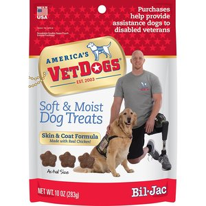 Bil-Jac America's VetDogs Skin & Coat Dog Treats