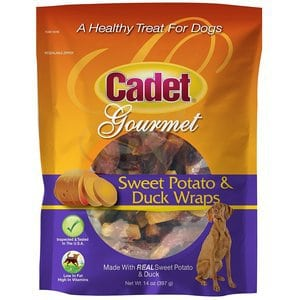 Cadet Sweet Potato Dog Treat Wraps