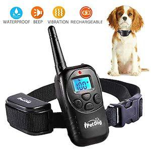 Dog Training Collar with Remote Control Waterproof Train Rechargeable Dog Collar
