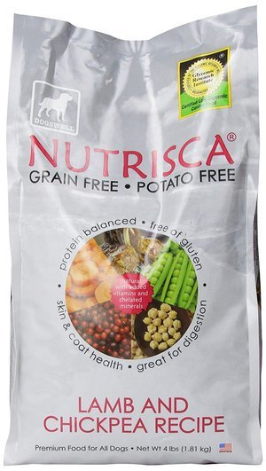 Dogswell Nutrisca Dog Food Lamb and Chickpea 4-Pound Package