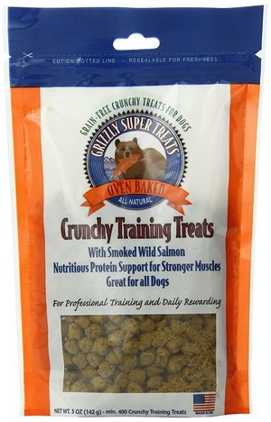 Grizzly Super Treats Crunchy Training Treats Smoked Salmon