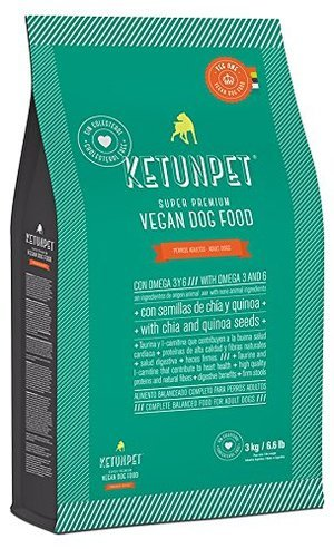 KetunPet Vegan Dog Food - ADULT - 66 and 22 lbs bags