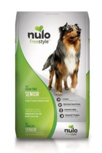 Nulo Grain Free Senior Dog Food with Glucosamine and Chondroitin Trout and Sweet Potato Recipe - 45 11 or 24 lb Bag