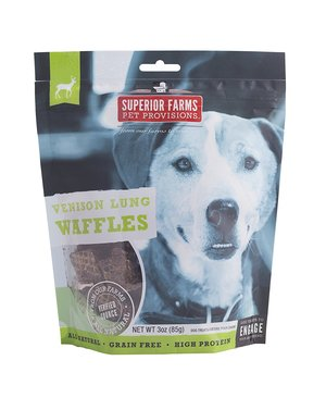 Superior Farms Pet Provisions Venison Waffles Pet Treat