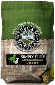 Tuscan Natural Pet Food Simply Pure Lamb Meal Dog Food Recipe 286 lb