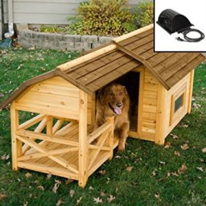 Boomer & George Wooden Barn Dog House