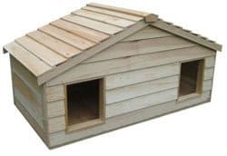 CozyCatFurniture Duplex Insulated Cedar Pet House