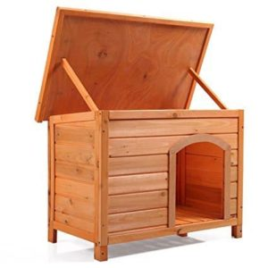 LAZYMOON Large Wooden Dog House