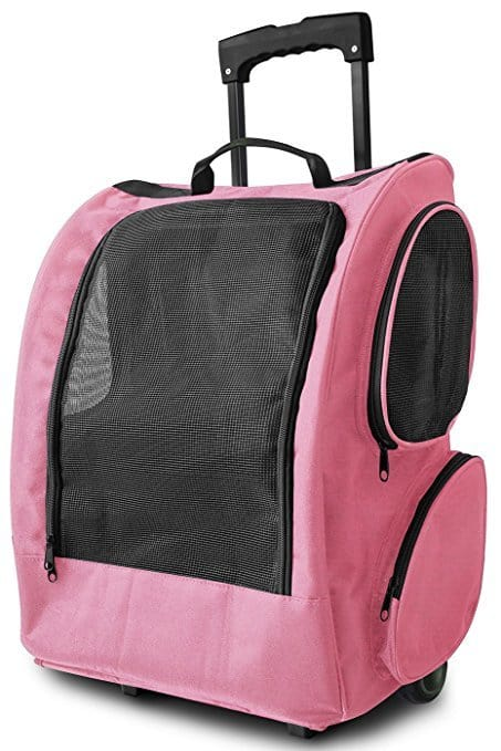 OxGord Rolling Backpack Travel Pet Carrier for Cats
