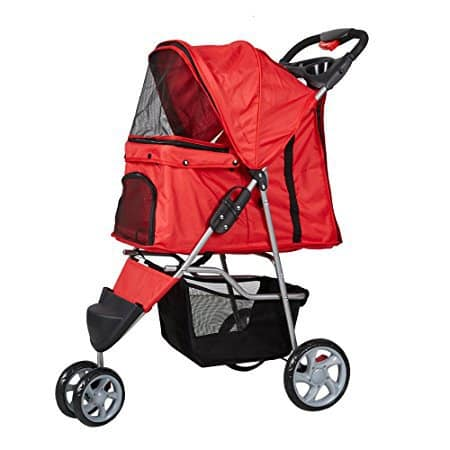 Lucky Lola Folding 3 Wheel Pet Stroller