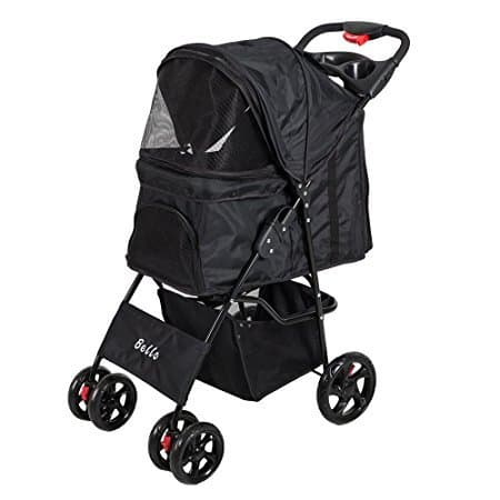 KARMAS PRODUCT Foldable Four Wheels Pet Cart Pet Stroller