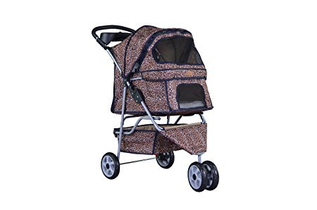 BestPet All Terrain Extra Wide 3 Wheels Pet Stroller