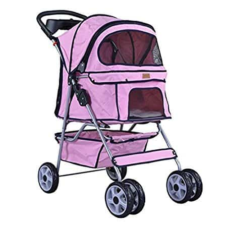 BestPet 4-Wheel Pet Stroller