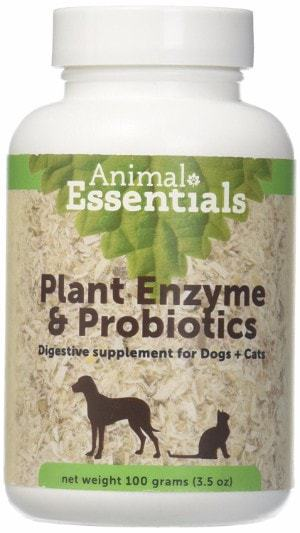 Animal Essentials Plant Enzyme & Probiotics Supplement for Dogs and Cats