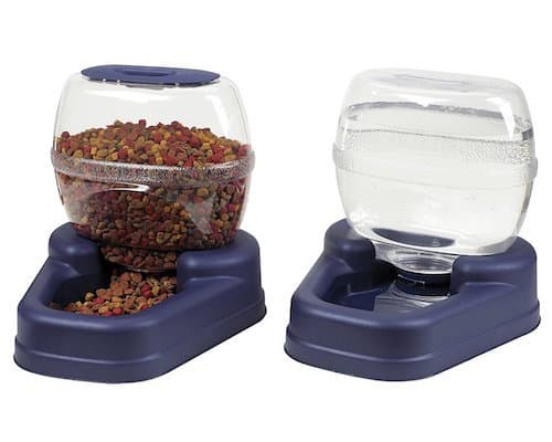 Bergan Gourmet Petit Combo Pet Feeder + Waterer