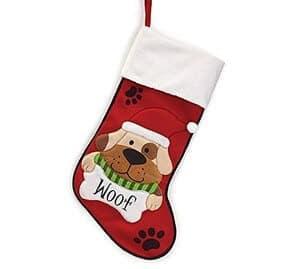 Burton & Burton Christmas Stocking Plaid Dog
