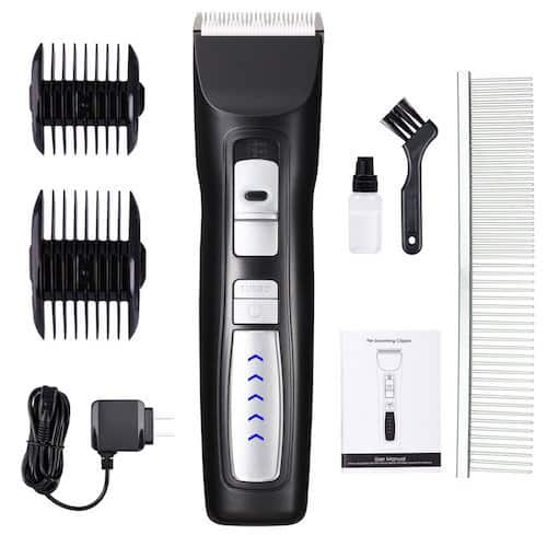 Casfuy 2-Speed Professional Rechargeable Cordless Pet Grooming