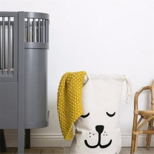 Cuteboom Canvas Laundry Bag - Sleeping Dog