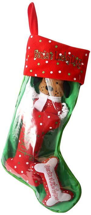 DEI Holiday Pet Stocking Snowflake Dog Toy Set