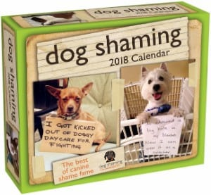 Dog Shaming 2018 Day To Calendar