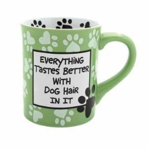 "Enesco Our Name is Mud ""Dog Hair"" Stoneware Mug, 16 oz."