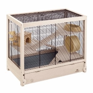 Ferplast HAMSTERVILLE Hamster Habitat Cage, Sturdy Wooden Structure