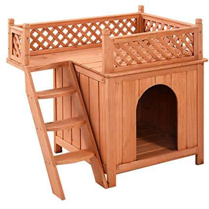 Giantex Wooden Puppy Pet Dog House