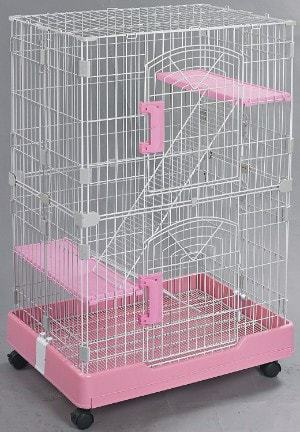 Homey Pet-3 or 1 Tiers Chinchilla Ferret Rabbit Small Animals Crate with Pull Out Tray