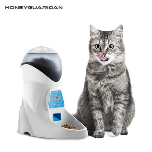 HoneyGuaridan A26 Automatic Pet Feeder with Voice Recorder and Programmable Timer