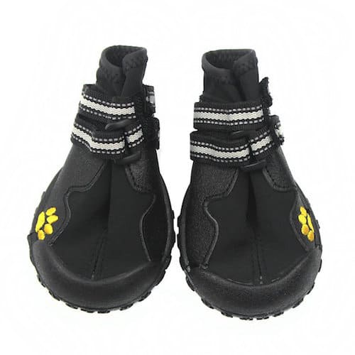Idepet Waterproof Dog Shoes with Anti-Slip Rubber Sole