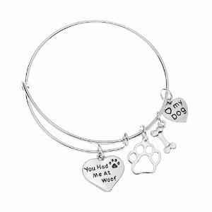 Infinity Collection Dog Charm Bracelet