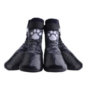 KOOLTAIL Anti Slip Waterproof Paw Protectors with Velcro Straps and Traction Control