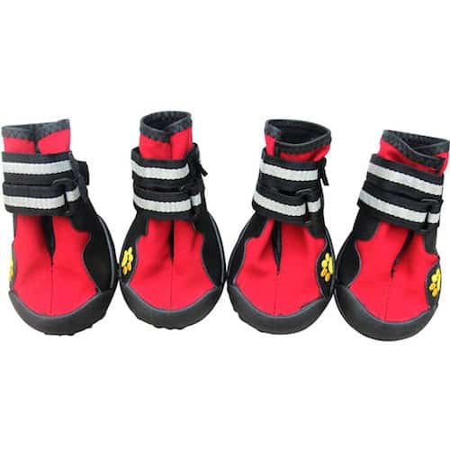 LanPet Paw Protector Pet Boots with Velcro Straps