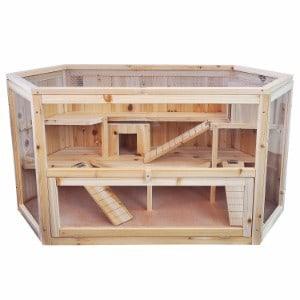 Niteangel Large Wooden Hamster Cage